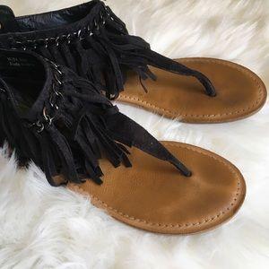 Not rated fringe sandal